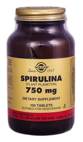 Solgar Спіруліна таблетки 750 мг 100 шт