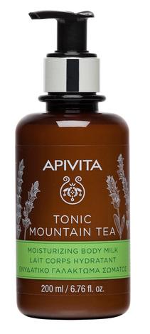 Apivita Зволожувальне молочко для тіла Тонізуючий гірський чай 200 мл 1 флакон