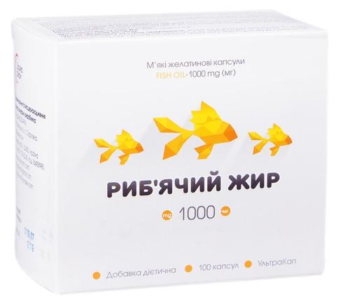 Риб`ячий жир капсули 1000 мг 100 шт