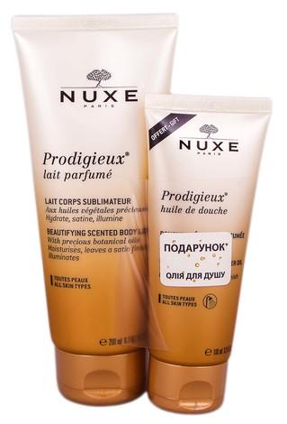 Nuxe Prodigieuse молочко для тіла 200 мл + олія для душу 100 мл 1 набір