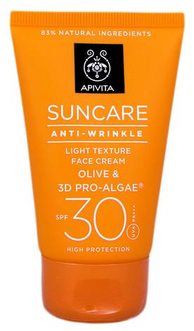 Apivita Suncare Сонцезахисний крем для обличчя проти зморшок легкої текстури SPF-30 50 мл 1 туба