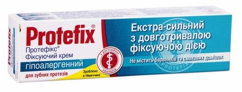 Protefix Крем фіксуючий для зубних протезів гіпоалергенний 40 мл 1 туба