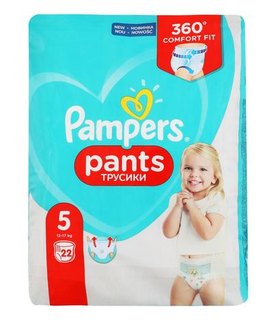 Pampers Pants 5 Junior Підгузки-трусики дитячі 12-17 кг 22 шт