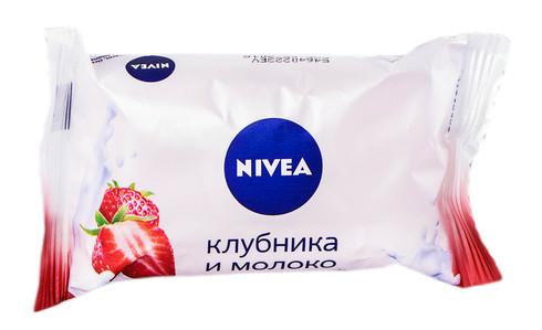 Nivea Мило Полуниця і Молоко 90 г 1 шт