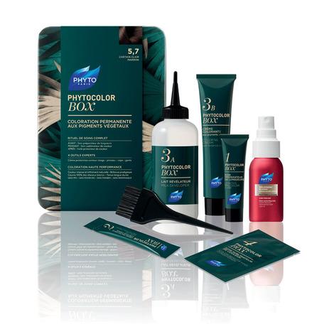 Phyto Phytocolor Бокс для фарбування волосся тон №5.7 світлий шатен каштановий 1 комплект