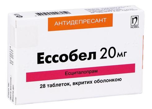 Ессобел таблетки 20 мг 28 шт