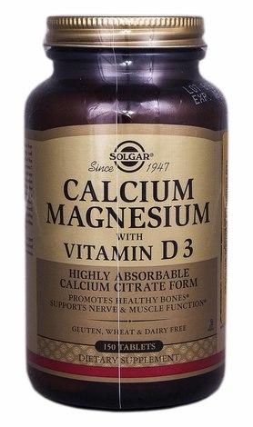 Solgar Кальцій-Магній з вітаміном D3 таблетки 150 шт