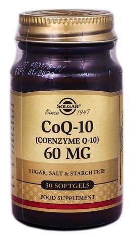 Solgar Коензим Q-10 капсули 60 мг 30 шт 1 флакон