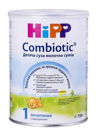 HiPP Combiotic 1 Дитяча суха молочна суміш з народження 750 г 1 банка