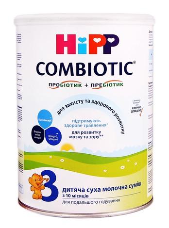 HiPP Combiotic 3 Дитяча суха молочна суміш з 10 місяців до 3 років 750 г 1 банка