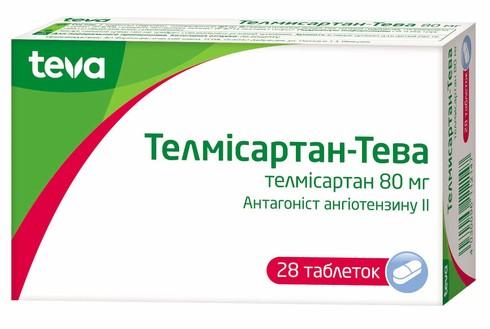 Телмісартан Тева таблетки 80 мг 28 шт