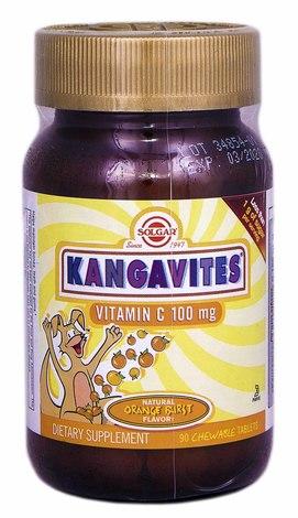 Solgar Кангавітес з вітаміном С зі смаком апельсину таблетки 100 мг 90 шт