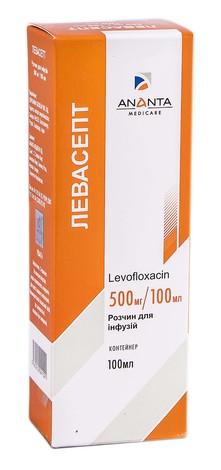 Левасепт розчин для інфузій 500 мг/100 мл  100 мл 1 флакон
