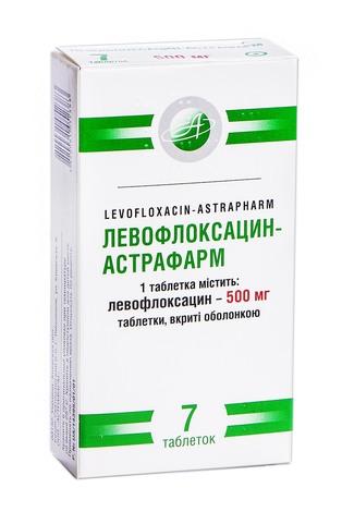 Левофлоксацин Астрафарм таблетки 500 мг 7 шт