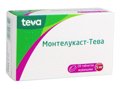 Монтелукаст Тева таблетки жувальні 5 мг 28 шт