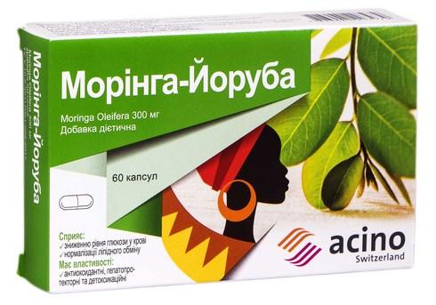 Морінга-Йоруба капсули 300 мг 60 шт