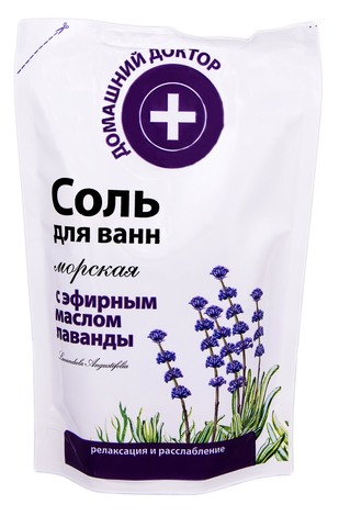 Домашній Доктор Сіль для ванн з ефірною олією лаванди 500 г 1 пакет