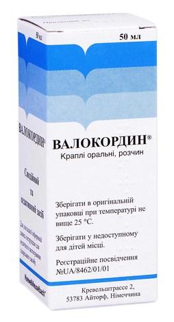Валокордин краплі оральні 50 мл 1 флакон