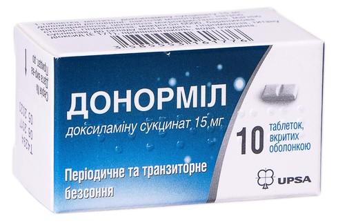 Донорміл таблетки 15 мг 10 шт