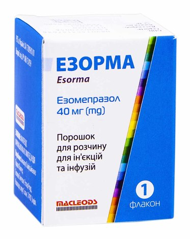 Езорма порошок для ін'єкцій та інфузій 40 мг 1 флакон