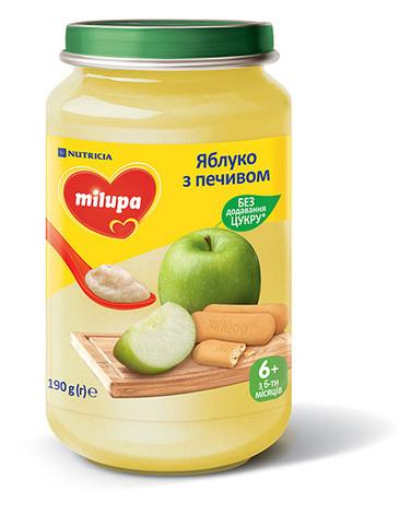 Milupa Пюре Яблуко з печивом від 6 місяців 190 г 1 банка