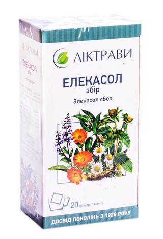 Елекасол Ліктрави збір 1,5 г 20 фільтр-пакетів