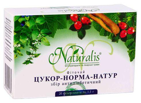 Naturalis Цукор-норма-Натур фіточай 1,5 г 20 фільтр-пакетів