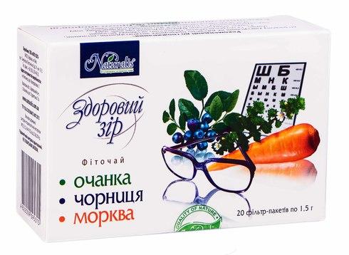 Naturalis Здоровий зір фіточай 1,5 г 20 фільтр-пакетів