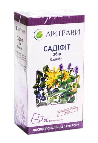 Садіфіт Ліктрави збір 3 г 20 фільтр-пакетів