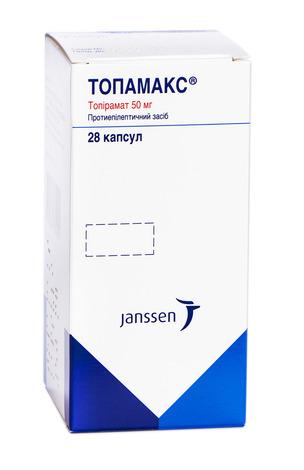 Топамакс капсули 50 мг 28 шт