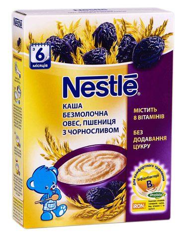 Nestle Каша безмолочна овес пшениця з чорносливом без цукру з 6 місяців 200 г 1 коробка