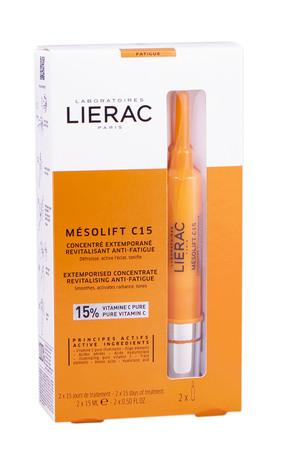 Lierac Mesolift C15 Концентрат екстемпоральний для обличчя проти ознак втоми шкіри 15 мл 2 флакони
