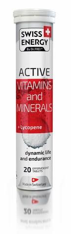 Swiss Energy Вітаміни та мінерали + Лікопін Active таблетки шипучі 20 шт