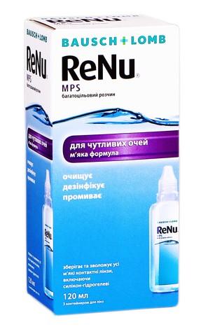 ReNu MPS багатоцільовий розчин для контактних лінз 120 мл 1 флакон