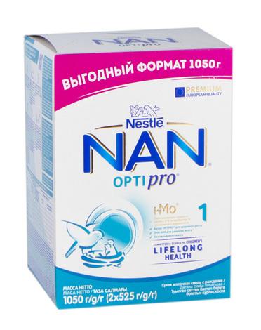 NAN Оптіпро 1 Суха дитяча молочна суміш з олігосахаридом 2'FL з народження 1050 г 1 коробка