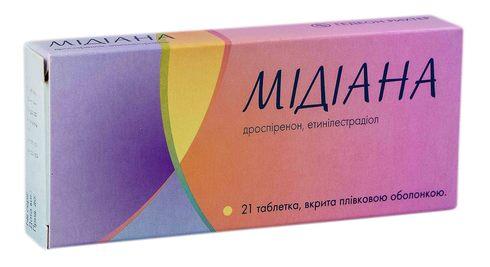 Мiдіана таблетки 3 мг/0,03 мг  21 шт