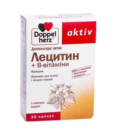 Doppel herz aktiv Лецитин + B-вітаміни капсули 30 шт