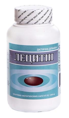 Лецитин капсули 1200 мг 100 шт 1 флакон