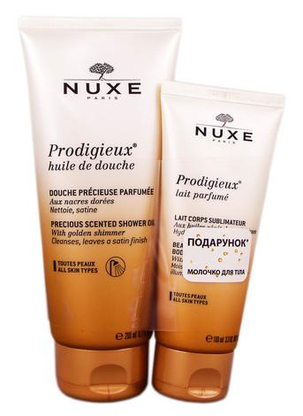 Nuxe Prodigieuse олія для душу 200 мл + молочко для тіла 100 мл 1 набір