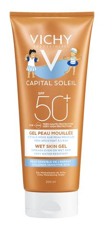 Vichy Capital Soleil Гель водостійкий з технологією нанесення на вологу шкіру для чутливої шкіри дітей SPF-50+ 200 мл 1 туба