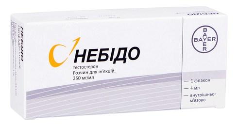 Небідо розчин для ін'єкцій 250 мг/мл 4 мл 1 флакон