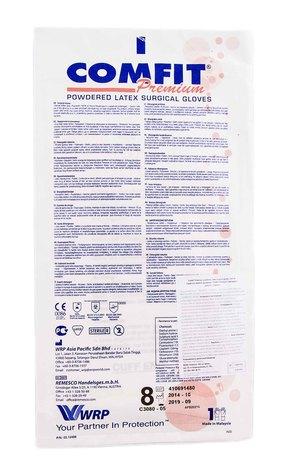 Comfit Premium Рукавички хірургічні стерильні припудрені латексні розмір 8 1 пара