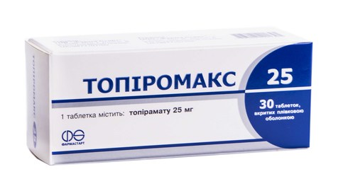 Топіромакс таблетки 25 мг 30 шт