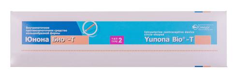 Внутрішньоматковий протизаплідний засіб кільцеподібної форми Юнона Біо-Т  тип 2 1 шт