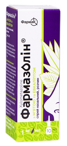 Фармазолін з м`ятою та евкаліптом спрей назальний 1 мг/мл 10 мл 1 флакон