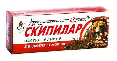 Еліксір Скипилар крем-гель з ведмежою жовчю 75 мл 1 туба