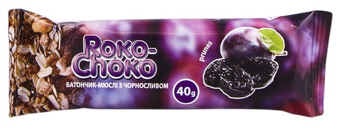 Roko-Choko Батончик-мюслі з чорносливом глазурований 40 г