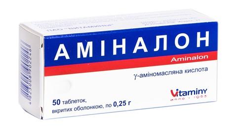 Аміналон таблетки 250 мг 50 шт