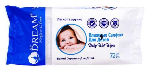 Air Dream Серветки вологі для дітей 72 шт