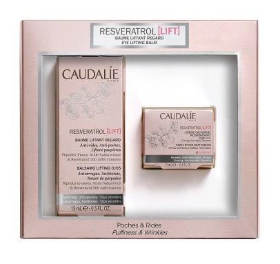 Caudalie Resveratrol Lift Eyes Set бальзам-ліфтинг для контуру очей 15 мл + крем-ліфтинг Кашемір 15 мл 1 набір